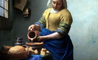 pittura-a-olio-lattaia-per-la-prima-colazione-con-pane-al-latte-di-jan-vermeer